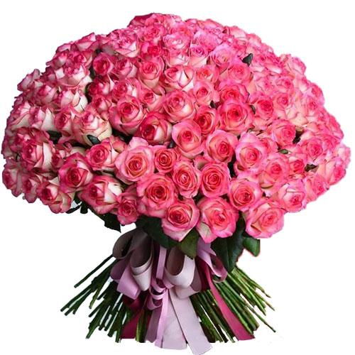"""101 рожева троянда """"Джумілія"""""""
