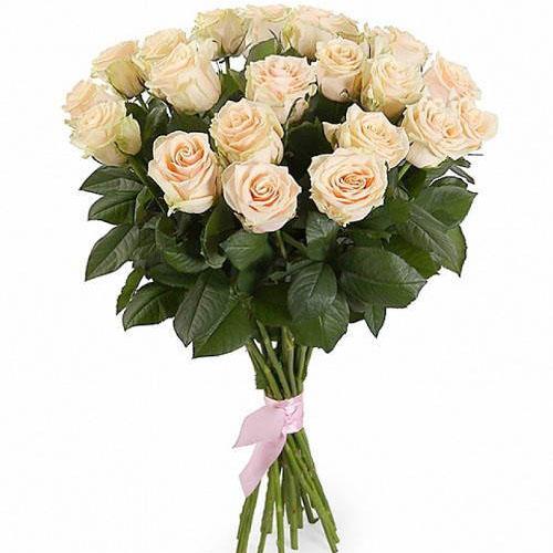 21 кремова троянда фото букета