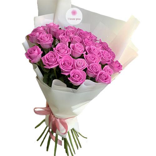 """букет 33 троянди """"Аква"""""""