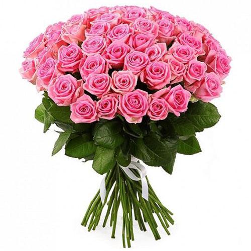 """51 рожева троянда """"Аква"""""""