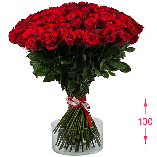 букет 101 висока троянда