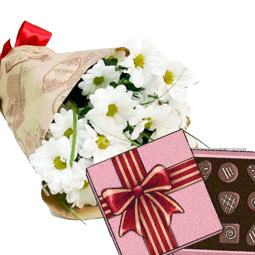 хризантеми з цукерками фото