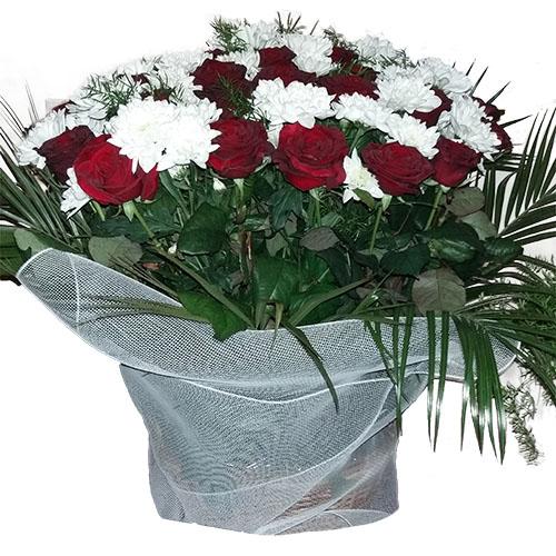 товар Квіти на похорон – кошик
